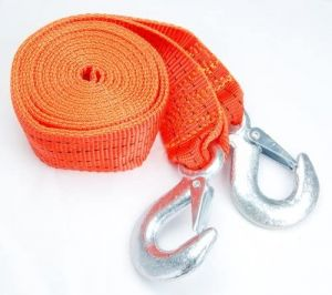 """Heavy Duty Tow Strap with Safety Hooks   2"""" x 12'   10,000 LB Capacity   Polyester"""